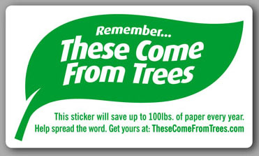 These come from trees stickers